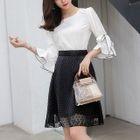 Set: Ruffled Top + Chiffon Skirt 1596