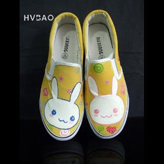 "Little Rabbits"" Canvas Slip-Ons"