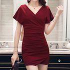 Short-Sleeve Mini Sheath Dress 1596