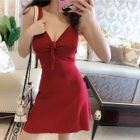 Sleeveless A-Line Mini Dress 1596