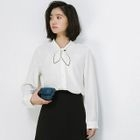 Bow Accent Blouse 1596