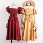 Tie-Waist A-Line Dress 1596
