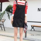Faux Leather Pinafore Dress 1596