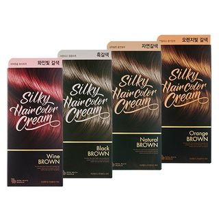 THE FACE SHOP - Stylist Silky Hair Color Cream - 7 Colors Natural Brown