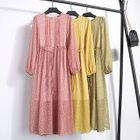 Long-Sleeve Printed Tie-Waist Dress 1596