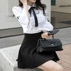 Set; Ruffled Shirt + Skirt 1596