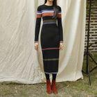 Striped Ribbed Knit Dress 1596