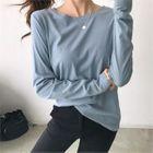 Round-Neck Cotton T-Shirt 1596
