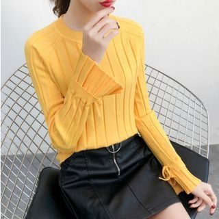 Long-Sleeve Rib Knit Top 1069179483