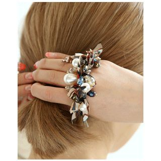 Multi-Charm Tasseled Hair Tie