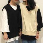 Set: Long-Sleeve T-Shirt + V-Neck Vest 1596