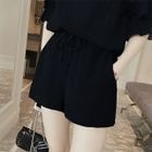 Set: Frilled Short-Sleeve Chiffon Top + Shorts 1596