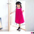 Kids Sleeveless Flower Accent A-Line Dress 1596
