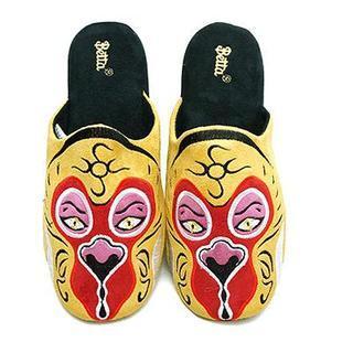 Men Chinese Opera Mask Slippers