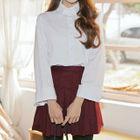 Wide-Cuff Plain / Stripe Shirt 1596