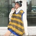 Set: Turtleneck Sweatshirt + Knit Vest Set - Sweatshirt - White - One Size / Vest - As Shown In Figure - One Size 1596